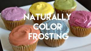 how to color frosting naturally u0026 quickly youtube