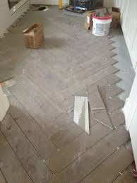 Tile Floor In Bathroom Herringbone Pattern Tile Floor Herringbone Pattern Wood Look Tile