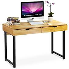 Computer Desk With Drawers Tribesigns Computer Desk Modern Stylish 47 Home