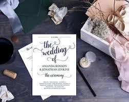 wedding program template download printable ceremony order