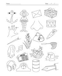 color the picture which start with letter n printable coloring