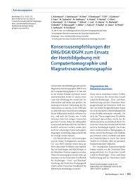 PDF Konsensusempfehlungen der DRG DGK DGPK zum Einsatz der