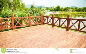 Backyard Wood Deck Wood Deck Wooden Patio Outdoor Stock Photo Image 59302260