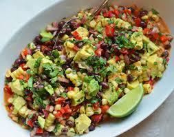black bean u0026 corn salad with chipotle honey vinaigrette once