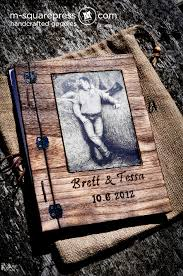 Rustic Wedding Guest Book Rustic Western Photo Wedding Guestbook M Squarepress Blog