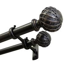 Metal Curtain Rods And Finials Shop Curtain Rods U0026 Hardware At Lowes Com