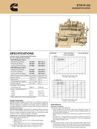 cummins kta19 engine data sheet internal combustion engine