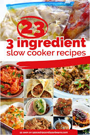 23 quick u0026 easy 3 ingredients or less slow cooker recipes