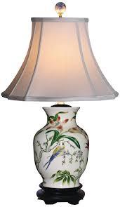 Vase Table Lamp Tulip Vase Porcelain Table Lamp Asian Table Lamp Amazon Com