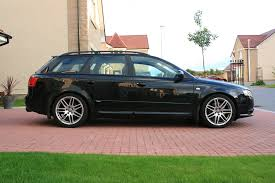 anyone got an a4 b7 lowered on 35mm h r springs audi sport