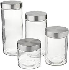glass kitchen canister sets amazon com anchor hocking callista 4 glass canister set