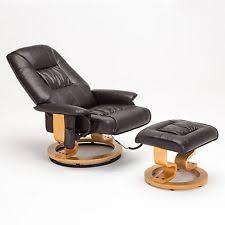 Armchair Recliner Leather Swivel Recliner Furniture Ebay