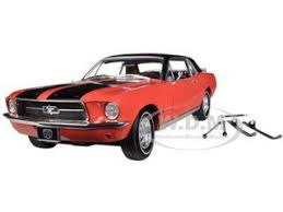 Red Mustang With Black Stripes Ford Mustang Coupe