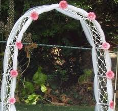 wedding arches using tulle ideas how to decorate an arch for a wedding wedding