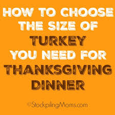 how to choose the size of turkey you need for thanksgiving dinner