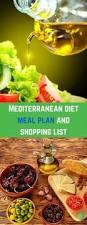 mediterranean diet meal plan and shopping list mediterranean