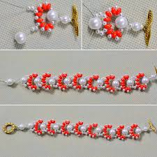 make bracelet bead images Easy tutorial on how to make orange 2 hole seed beads bracelet jpg