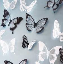 black white butterfly sticker decal home decor wall