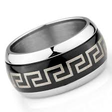 mens stainless steel rings men s stainless steel polished ring eleni the