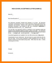 8 acceptance letter samples self introduce