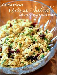 quinoa salad with pecans and cranberries vegan recipe