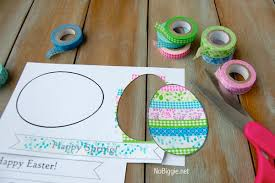 washi tape easter crafts free printable