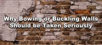 Bowing Basement Wall by Why Bowing Or Buckling Walls Should Be Taken Seriously Wet