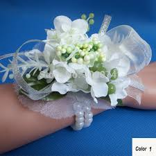 wrist corsage supplies 4pcs silk wrist flower corsage for wedding event party supplies