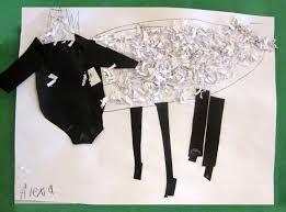 shredded paper sheep art class ideas