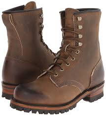 amazon com frye men u0027s logger combat boot tan 7 5 m us shoes