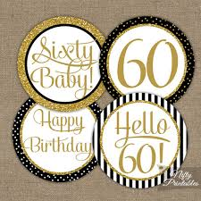 60th birthday party decorations 60th birthday cupcake toppers 60th birthday party