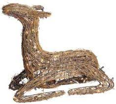 gemmy starry grapevine deer outdoor decoration