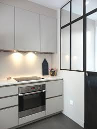 cuisiniste levallois cuisine ouverte bar avec verrière atelier à levallois perret côté