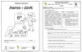 libro texto matematicas sexto grado ciclo 2015 2016 material de apoyo del sexto grado para el cuarto bloque ciclo