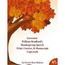 governor william bradford s thanksgiving speech copywork e book