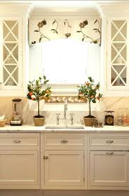Kitchen Window Treatments Ideas Kitchen Window Curtains Pinterest Treatments Over Sink For Bay