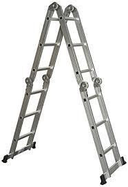 best choice products multi purpose aluminum ladder folding step