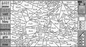 Coloriage magique  Tables de multiplication  mat dic  Pinterest