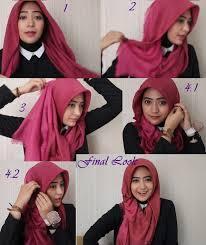 tutorial jilbab segi 4 untuk kebaya hijab modern kerudung segi empat terbaru kreasi