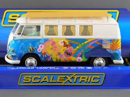 volkswagen van hippie scalextric c3761 volkswagen vw hippie camper van t1b mib new ebay