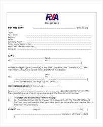 sample bill of sale form in pdf 12 examples in pdf