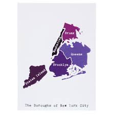 Map Of New York by Map Of New York City Note Card April May Smudge Ink
