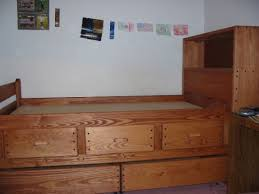Twin Bed With Storage And Bookcase Headboard by S050 Twin Captain U0027s Bed The Bunk U0026 Loft Factory