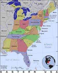 Map Of North East Map Of Usa East Map Of Usa East Coast Map Of Usa East Coast