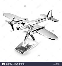 metal airplane desk ornament stock photo royalty free image