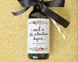 wine bottle favors mini wine bottle label wedding favors thank you script