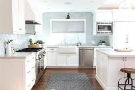 backsplash for a white kitchen blue kitchen backsplash light blue in modern kitchen with brown and