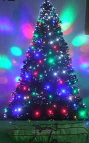 Christmas Tree With Optical Fiber Lights - fiber optic christmas trees artificial christmas tree