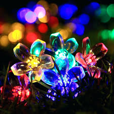 multi colored solar garden lights multi colored solar string lights outdoor flower garden light led