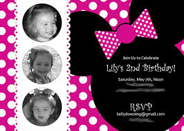 Invitation Cards For Birthday Party For Adults Minnie Mouse Birthday Party Invitations Theruntime Com